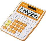 CASIO カラフルミニジャストタイプ電卓 MW-C10A-OE-N 10桁 (エコ仕様 00キー/桁落しキー追加 表示保護パネル追加 )