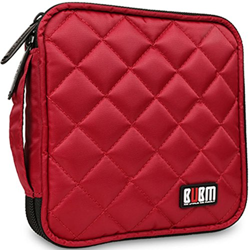 Best Price 32 Capacity CD / DVD Wallet, 230D Space Twill Cover, Various Colors - Red