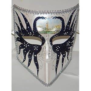Visor Shape Mask in Black Pattern $19.99 | masquerade ball masks