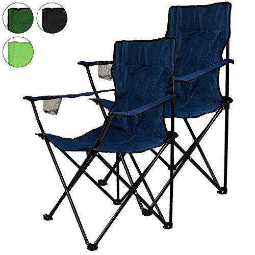 Nexos-2-er-Set-Angelstuhl-Anglerstuhl-Faltstuhl-Campingstuhl-Klappstuhl-mit-Armlehne-und-Getrnkehalter-praktisch-robust-leicht-blau