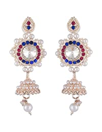 Bel-en-teno Pink & Blue Alloy Earring Set For Women - B00PY9XH1Q