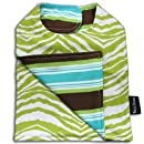 Bella Tunno Reversible Bib, Lime Zebra/Coco Suit Stripe