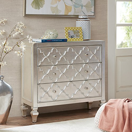 Somerset 3-Drawer Chest Antique Silver See below