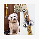 PoochieBells Classic Dog Potty Training Doorbell in Warm Gold and Brown, Best Friend Wording