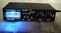 BLUE Custom Redman CB LIGHTED Cb Ham Radio PDC5 Power SWR Meter w/ANTENNA TUNER