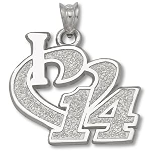 Logoart Tony Stewart Sterling Silver 3 4 I Heart Pendant Each by Logo Art