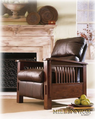 Discounted Ashley Furniture: Monarch Valley Harness High Leg Recliner By Ashley