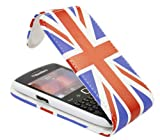 ITALKonline BlackBerry 9360 Curve RED WHITE BLUE UK UNION JACK Easy Clip On Vertical Flip Wallet Pouch Case Cover with Holder