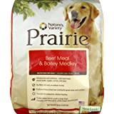 Nature's Variety Dry Dog Food, Prairie Canine Beef Meal and Barley, 30-Pound Bag
