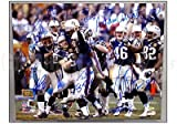 Patriots 2003 Team Signed Super Bowl 38 16x20 Celebration Photo