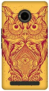 The Racoon Lean Orange Illustrated Owl hard plastic printed back case / cover for Yu Yuphoria
