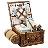 Picnic at Ascot Cheshire Basket for 2 with Blanket, London