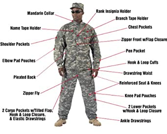 ACU Digital Camouflage Pants, X-Small