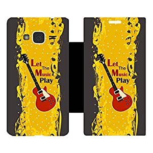 Phone Candy Designer Flip Cover with hi-res printed Vinyl sticker wrap-around for Samsung Galaxy J3 (2016)