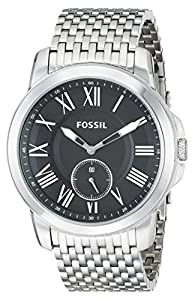 Fossil Men's FS4944 Analog Display Analog Quartz Silver Watch