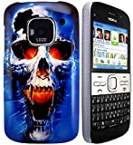 CellBig Blaze Skull Hard Back Case Cover Pouch Mask Wallet Pocket Holster For Your for Nokia E5