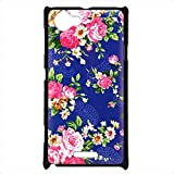 WEAPOWER(TM)For Sony Xperia L S36H Cover Original Flowers Design Hard Plastic Mobile Phone Protective Case Cover For Sony L C2104 C2105 S36H
