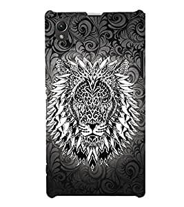 Tatto Manly Lion 3D Hard Polycarbonate Designer Back Case Cover for Sony Xperia Z1 :: Sony Xperia Z1 L39h