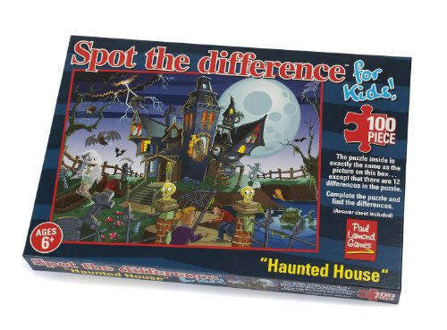 "Paul Lamond ,Spot the Difference Puzzle,""haunted House 100 Piece - 1"