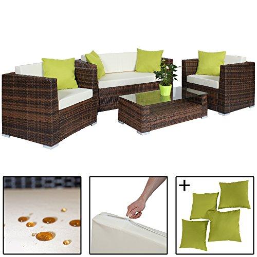 Tectake set di mobili rattan alluminio arredamento for Regalo arredamento completo