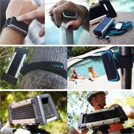 Fugoo Tough Bluetooth Wireless Speaker Black Silver