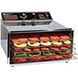 TSM Products Stainless Steel Food Dehydrator with 5 Stainless Steel Shelves