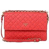 Da Milano Coral Red Shoulder Bag