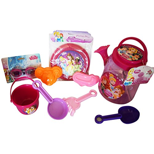FAVORITE-My-Royal-Princess-Disney-Beach-and-Pool-9-Piece-Playdate-Platinum-Bundle-3-Items-Royal-Watering-Can-Set-7-pcs-Flying-Disc-Splash-Goggles