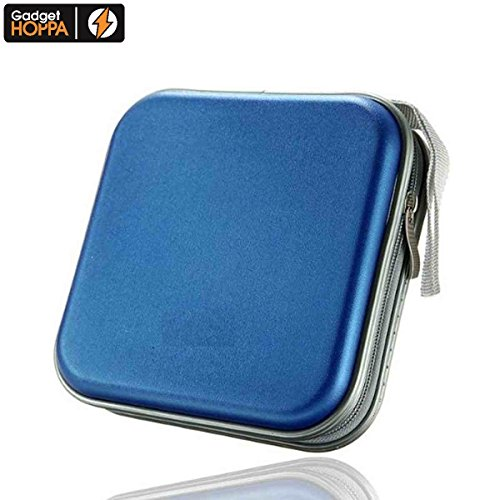 40/80 mm, in plastica, per CD/DVD a portafoglio, a Custodia Organizer portaoggetti, ideale per Video e Audio, MP3, CD, film Blu-Ray, consolle per giochi, da DJ Disks Hoppa-Gadget