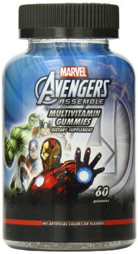 Disney Multivitamin Gummies, Marvel Avengers, 60 Count front-362786
