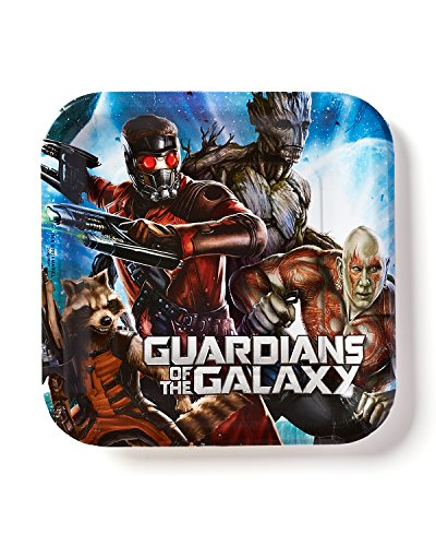 "American Greetings Guardians of the Galaxy 9"" Square Plate (8-Pack), Party Supplies"