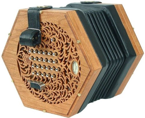 Rose English Standard Concertina - Natural Handmade in USA Concertina