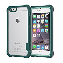 iPhone 6S Case / iPhone 6 Case by Daswise, TPU Armor Full Body Protective Cover Shockproof + Self-adhesive Screen Shield - Drop-tested (10x From 4ft), Dust Proof Design, Hybrid ABS Frame, Anti-scratch Clear PET-screen Protect