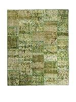 CarpeTrade Alfombra Vintage Persian Collage (Verde)