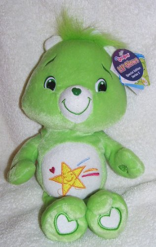 "2007 The New Care Bears - Special Edition 10"" Plush Lil' Glows Oopsy Bear - Glow In The Dark Bear front-1065129"