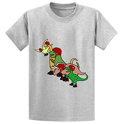 unicorn-roller-derby-dinosaurs-child-customized-crew-neck-t-shirt-grey