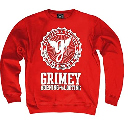 Grimey Logo Sweater rot
