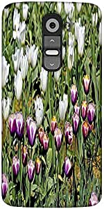 Snoogg Colorful Tulips Designer Protective Back Case Cover For LG G2