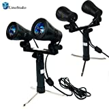 LimoStudio 2 pcs of Double Head Photo Studio Quality High Output Photo Table Top Lights with Stand, AGG1233