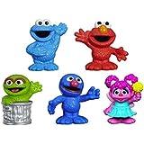 """Sesame Street Friends Grover, Elmo, Cookie Monster, Oscar the Grouch, & Abby Cadabby Figures 2 1/2"""""""