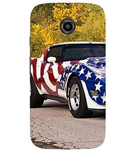 Evaluze car Printed Back Case Cover for MOTOROLA MOTO E2