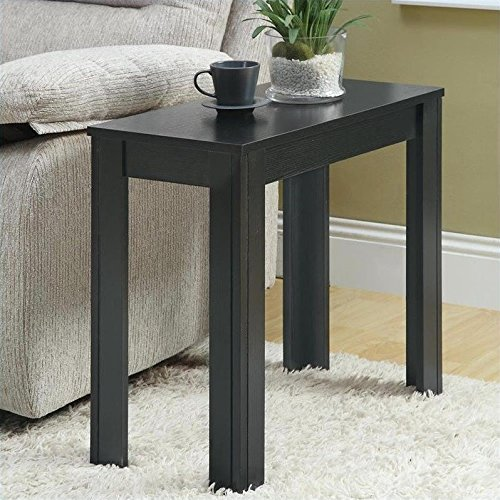 Monarch Specialties Black Oak Accent Side Table (Rectangle End Table compare prices)