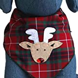 Rudolph the Red Nose Reindeer Christmas Dog Bandana for Medium to Large Dogs Pets 100% Cotton (Large)