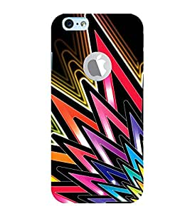 Vizagbeats Colored Spikes Back Case Cover for Apple Iphone 6 with logo