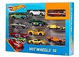 Hot Wheels - 54886 - Véhicule Miniature - Coffret 10 Voitures - Modèle aléatoire