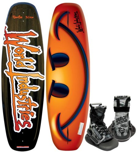 Kwik Tek World Industries Smile Wakeboard With Mud Buddy