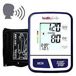 Healthgenie BP Monitor digital Upper arm BPM02T Talking Automatic with irregular heart beat indicator - 24 MONTHS WARRANTY