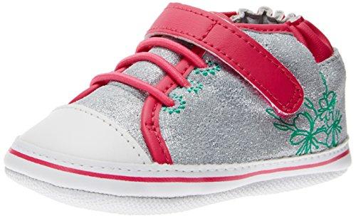 Robeez Felicity Sneaker (Infant/Toddler), Hot Pink/Grey, 12-18 Months M Us Toddler
