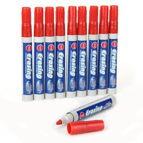 10x-boardmarker-whiteboardmarker-marker-stift-markierstift-pen-abwaschbar-rot