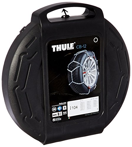 Thule 12mm CB12 Passenger Car Snow Chain, Size 104 (Sold in pairs) (2013 Mustang Spare Tire compare prices)